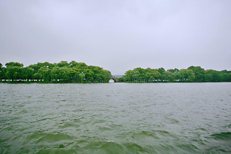 Zachodni Hangzhou Jezioro zdjęcie royalty free