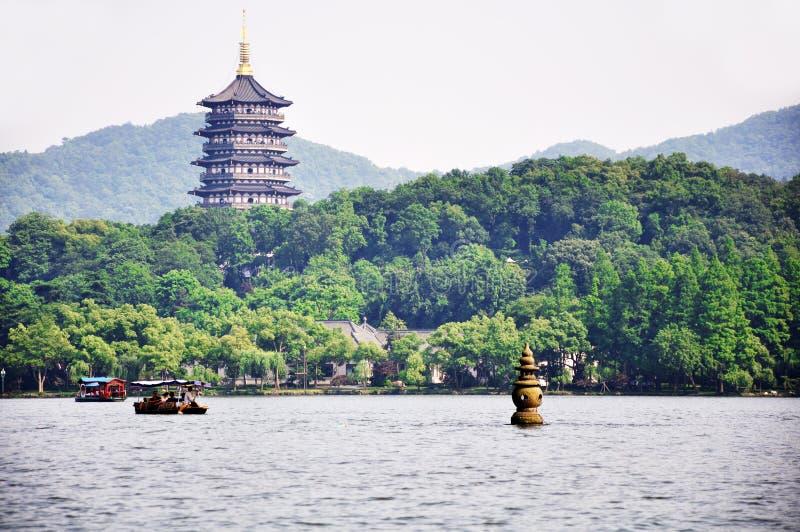 zachodni Hangzhou jezioro zdjęcia stock