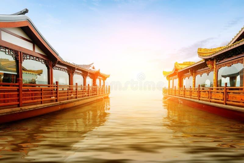 zachodni Hangzhou porcelanowy jezioro obrazy stock