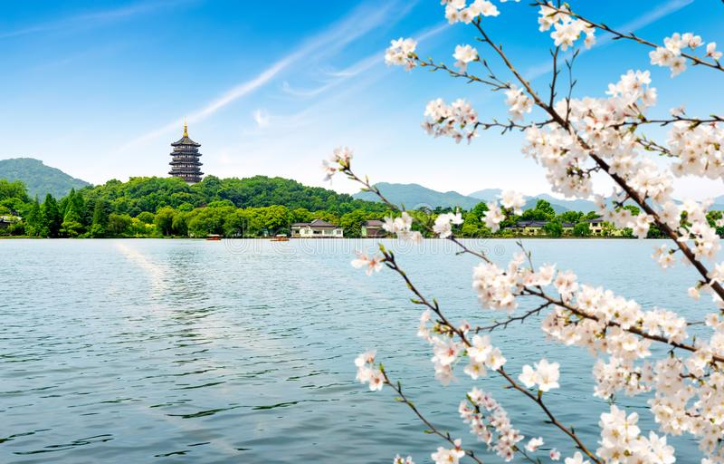 zachodni Hangzhou porcelanowy jezioro zdjęcie royalty free