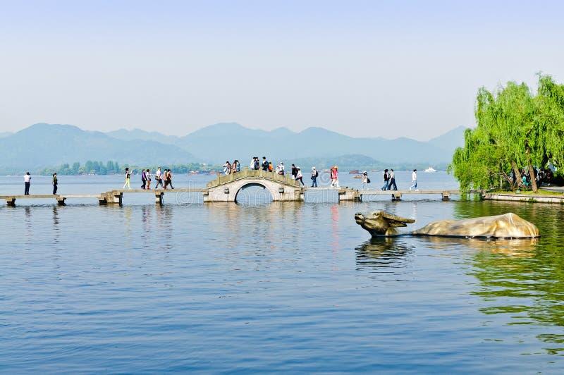 zachodni jeziorna Hangzhou sceneria obrazy royalty free