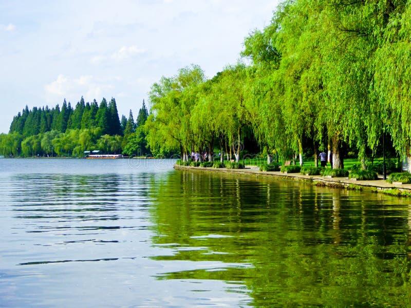 Zachodni Jeziorny Kulturalny Krajobrazowy widok obrazy stock