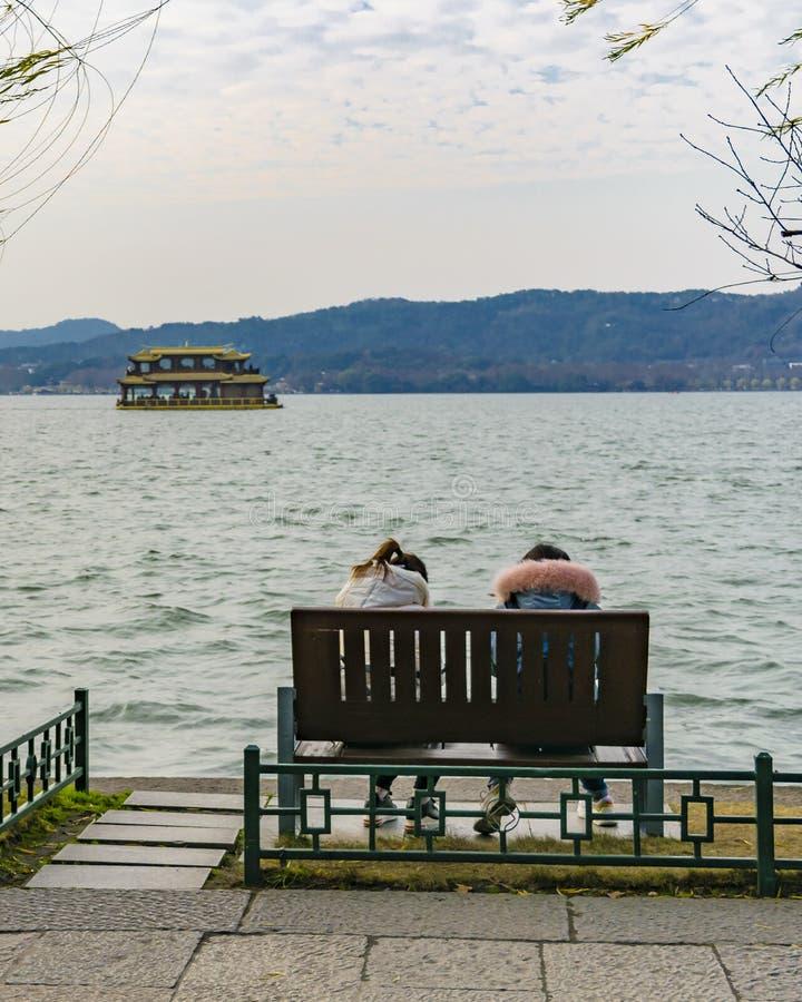 Zachodni jezioro, Hangzhou, Chiny obrazy stock