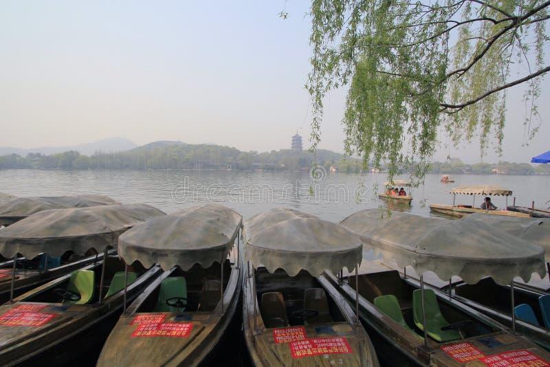 Zachodni jezioro w Hangzhou, porcelana obrazy stock