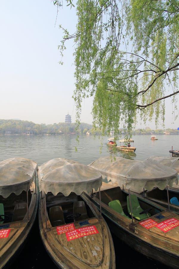 Zachodni jezioro w Hangzhou, porcelana zdjęcia stock