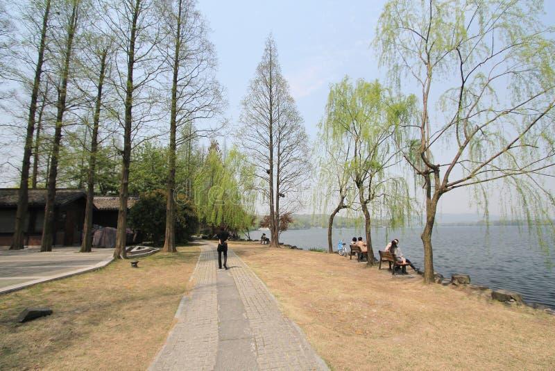 Zachodni jezioro w Hangzhou, porcelana obraz royalty free