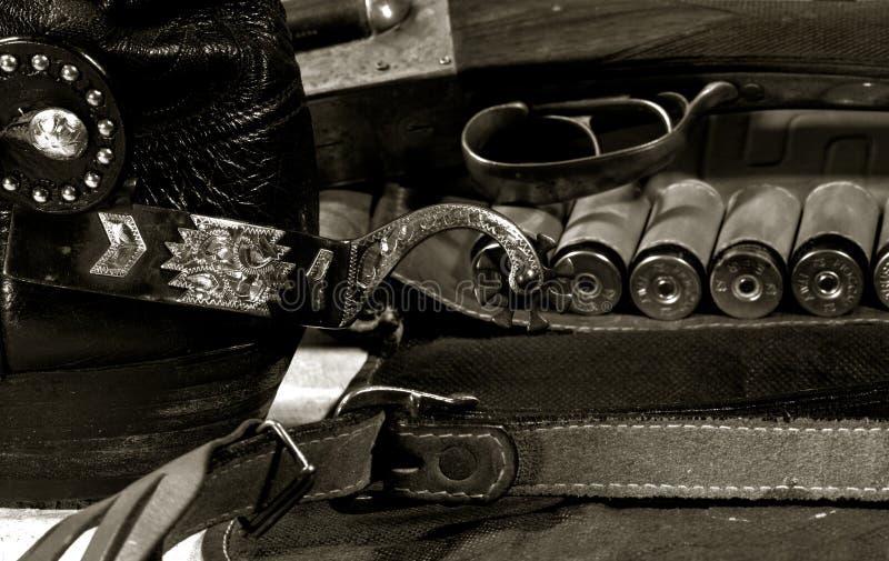 Zachodni kowboja wciąż życie fotografia stock