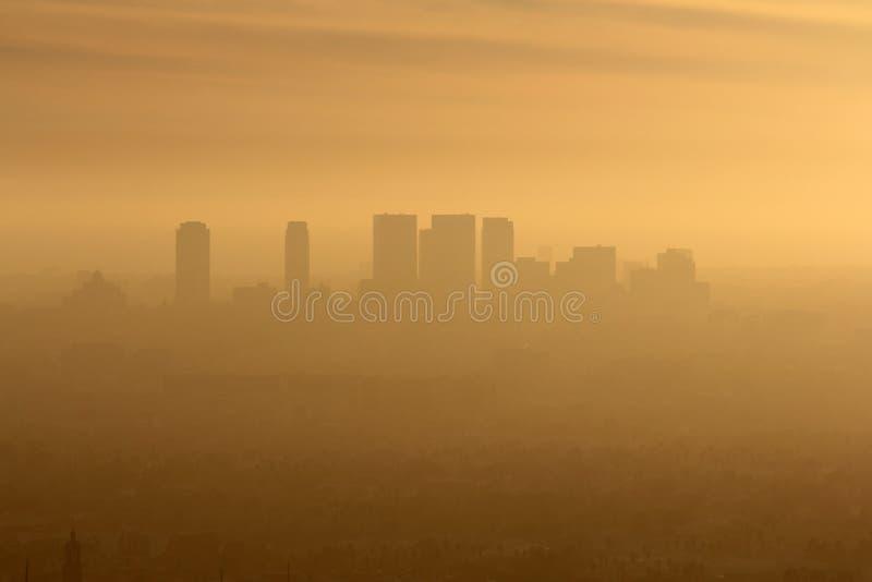 Zachodni losu angeles smog fotografia stock