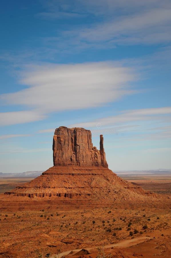 Zachodni mitynki Butte - Pomnikowa dolina zdjęcie stock