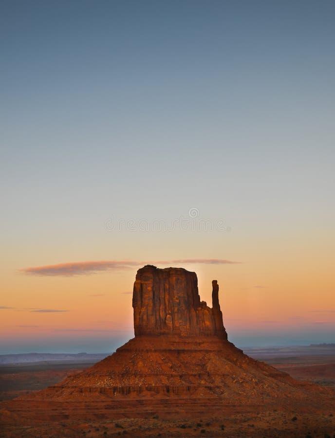 Zachodni mitynki Butte - Pomnikowa dolina obraz stock