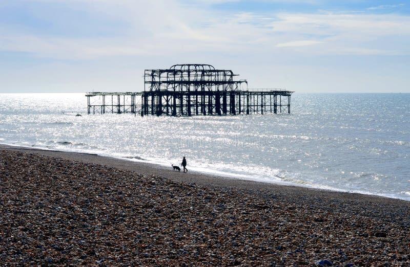Zachodni molo, Brighton, Anglia, UK fotografia stock