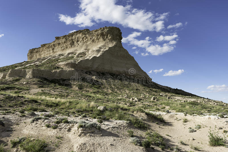 Zachodni Pawnee Butte w Northeastern Kolorado obrazy royalty free