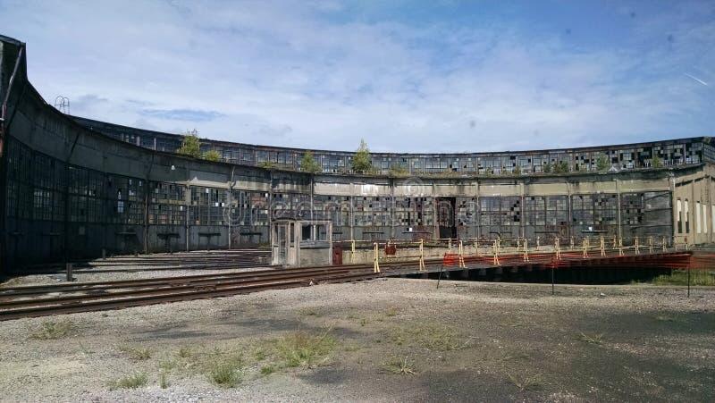 Zachodni Pensylwański linii kolejowej Roundhouse fotografia royalty free