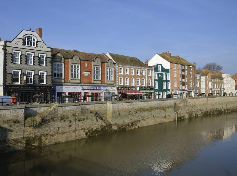 Zachodni Quay, Bridgwater zdjęcia royalty free