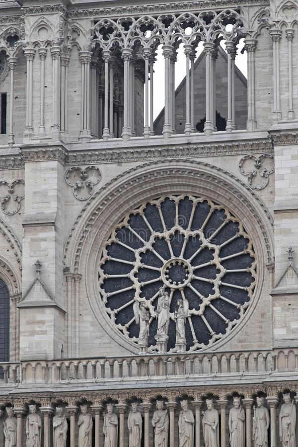 Zachodni Różany Nadokienny Notre Damae obrazy stock
