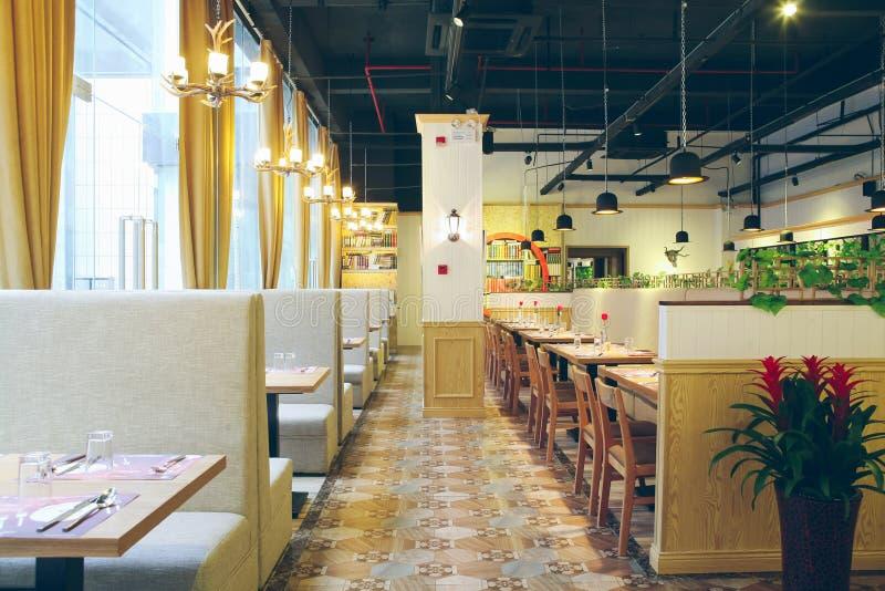 Zachodni restauraci przestrzeni pokaz obraz stock