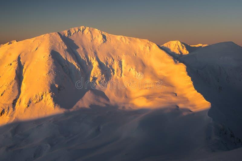 Zachodni Tatras szczyty obraz stock