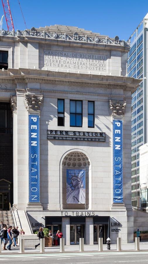Zachodni wejście Penn stacja w Miasto Nowy Jork fotografia royalty free