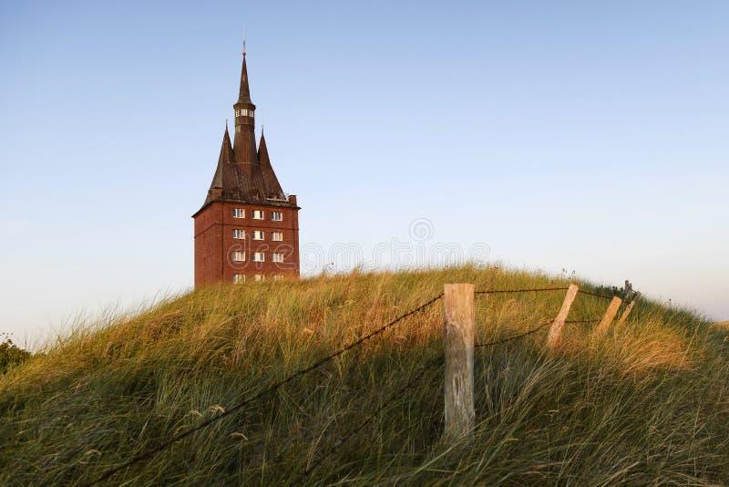 Zachodni wierza wyspa Wangerooge zdjęcie stock