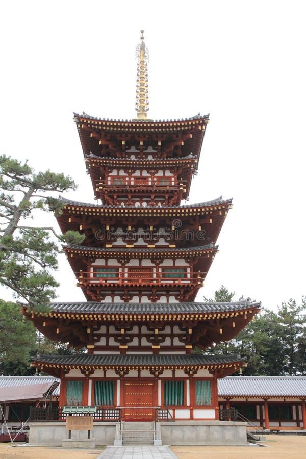 Zachodni wierza Yakushi ji w Nara fotografia stock