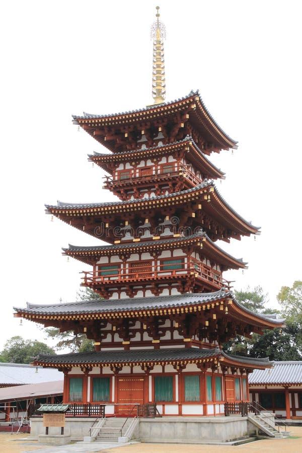 Zachodni wierza Yakushi ji w Nara obrazy stock