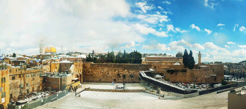 Zachodnia ściana w Jerozolima, Izrael obraz stock