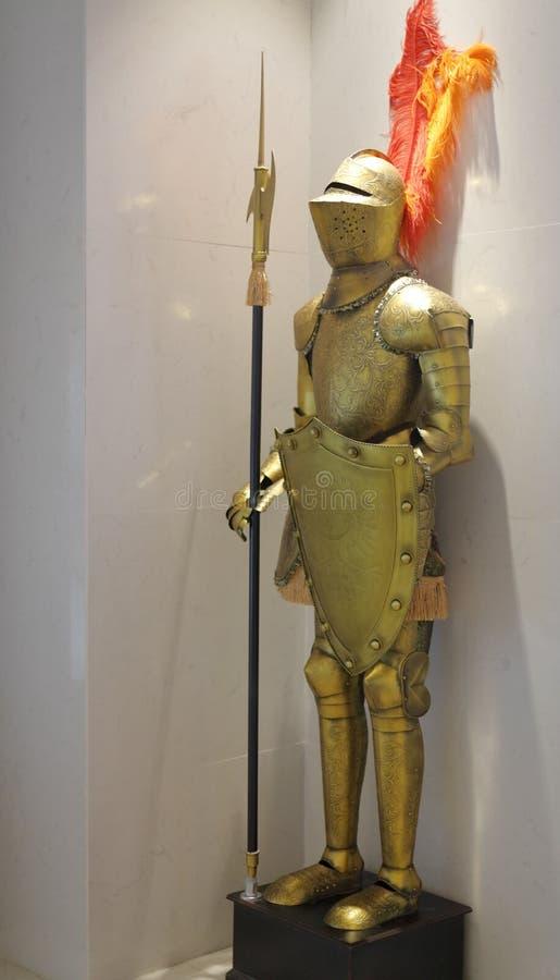 Zachodnia antyczna wojownik statua, adobe rgb zdjęcia stock