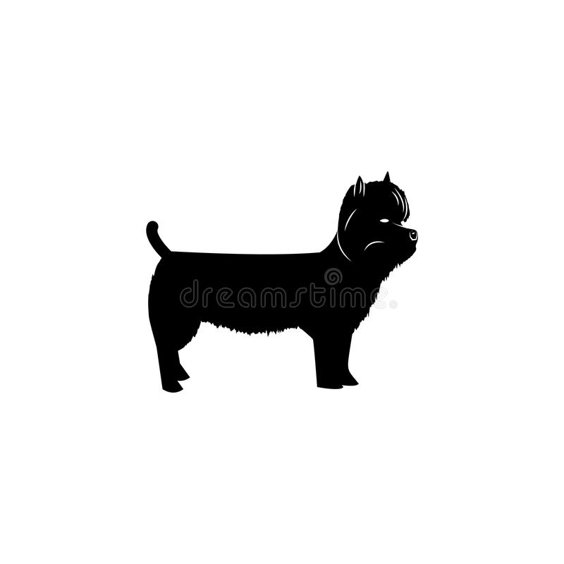 Zachodnia Górska Terrier ikona Popularny traken psa elementu ikona Premii ilości graficznego projekta ikona Psów symbole i znaki  royalty ilustracja