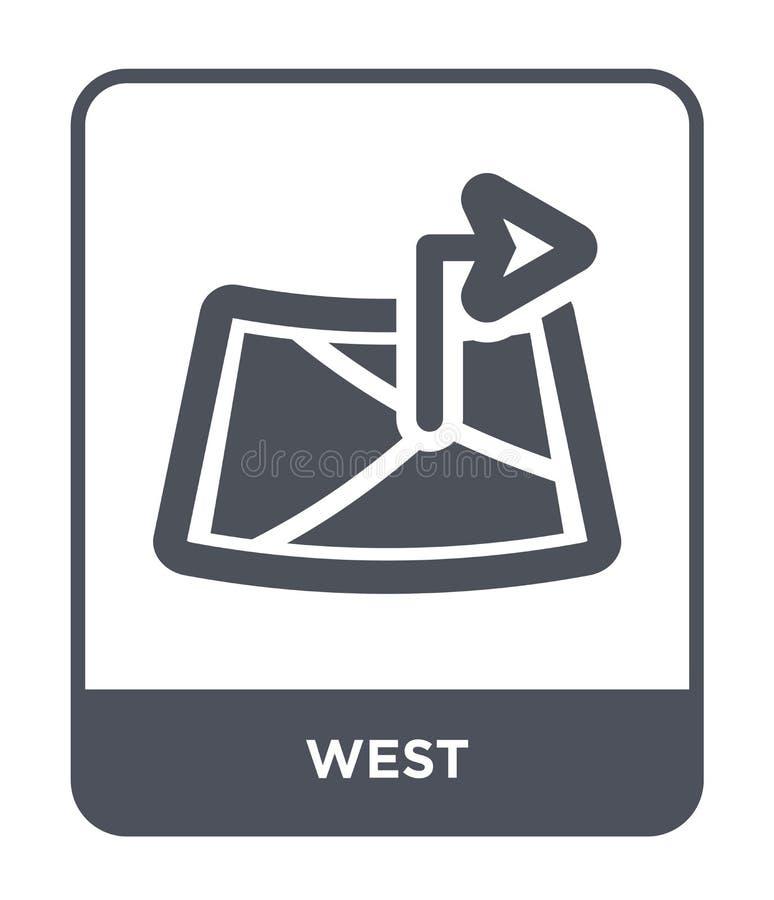zachodnia ikona w modnym projekta stylu zachodnia ikona odizolowywająca na białym tle zachodniej wektorowej ikony prosty i nowoży royalty ilustracja