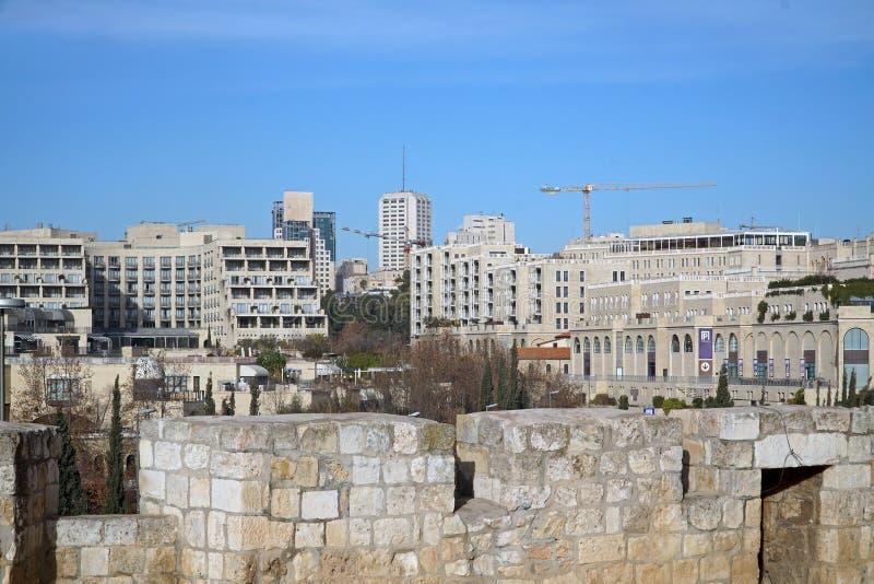 Zachodnia Jerozolimska linia horyzontu zdjęcie stock