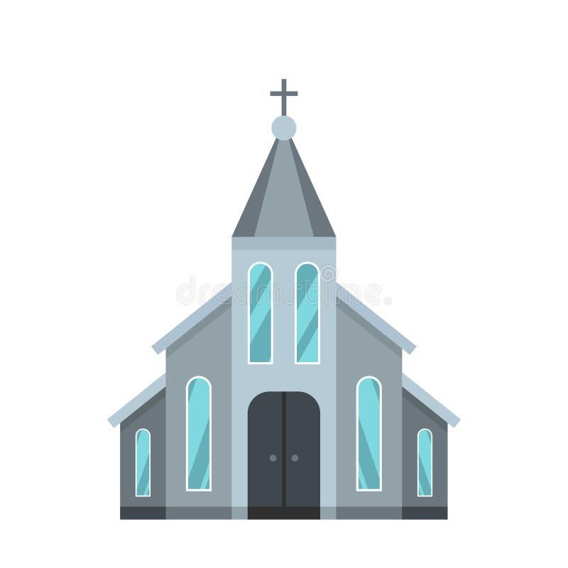 Zachodnia kościelna ikona, mieszkanie styl royalty ilustracja