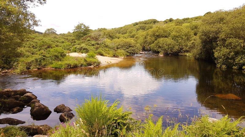Zachodnia strzałki rzeka Dartmoor Park Narodowy Devon UK obrazy stock