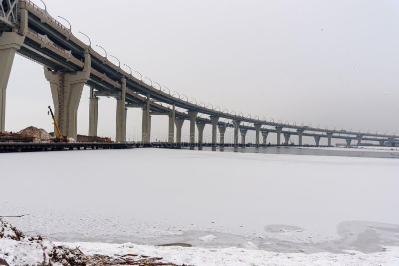 Zachodnia szybkościowa średnica w zimie saint petersburg Rosja, obrazy royalty free
