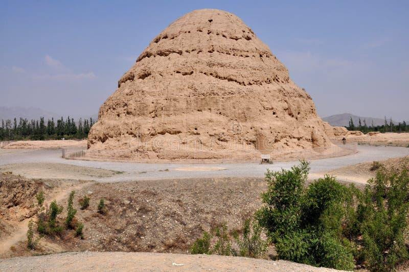 Cesarscy grobowowie Zachodni Xia zdjęcia royalty free