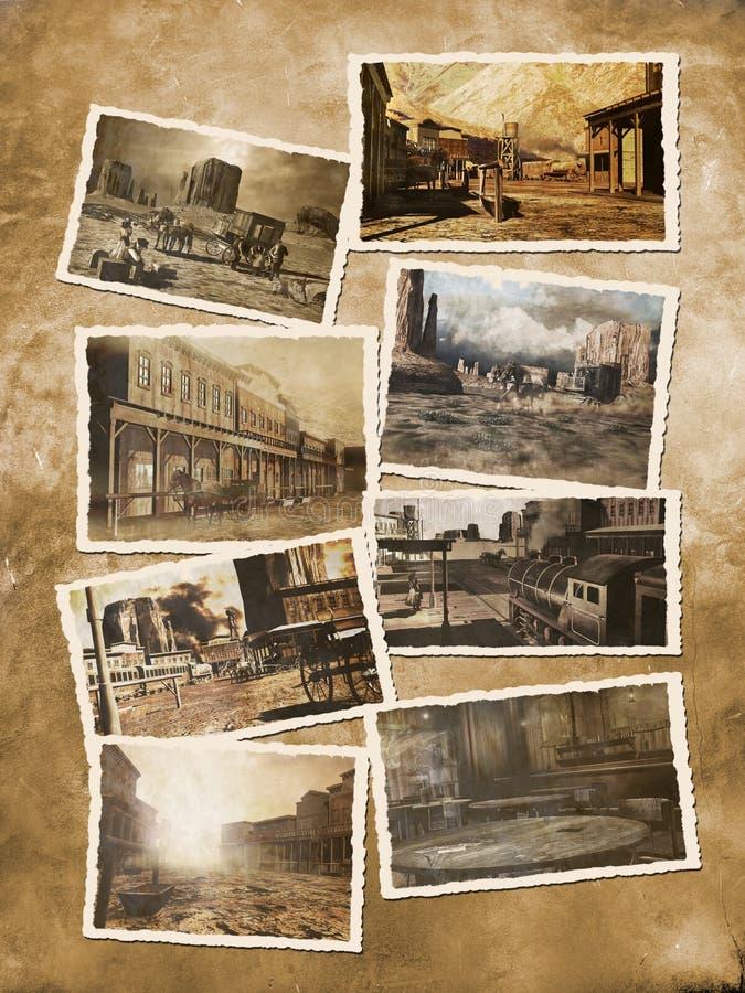 zachodnie stare pocztówki ilustracji