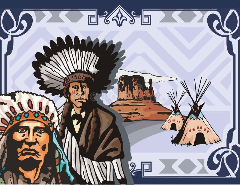 zachodnie tło szeregu ilustracja wektor