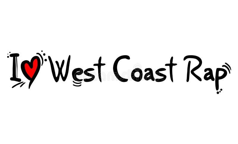 Zachodnie Wybrzeże rap styl ilustracja wektor