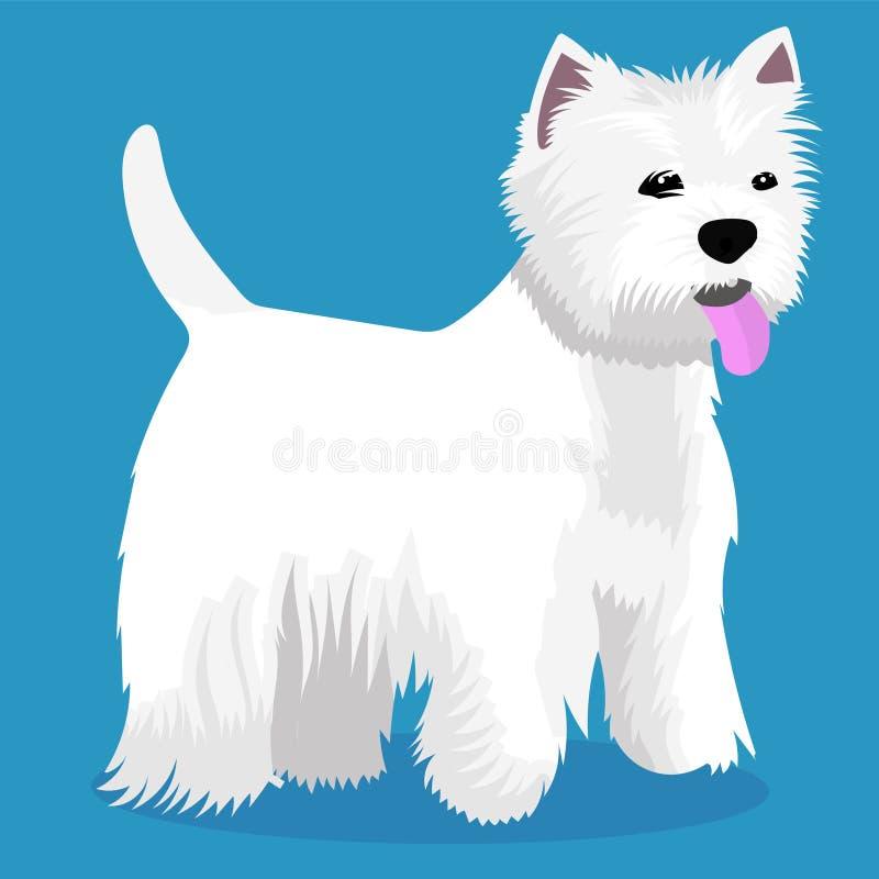 Zachodniego średniogórza białego teriera pies royalty ilustracja