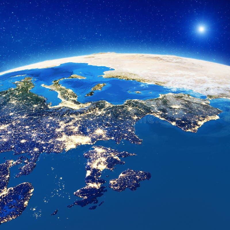 Zachodniego Europa miasta światła royalty ilustracja