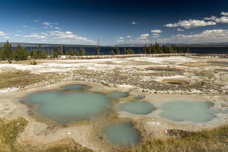 Zachodniego kciuka gejzeru Yellowstone Basenowy park narodowy zdjęcia stock