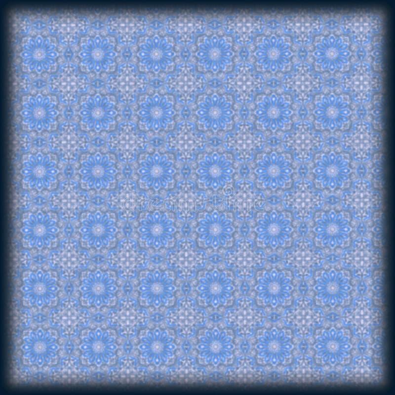 zacht blauw bloemen geometrisch patroon stock afbeelding