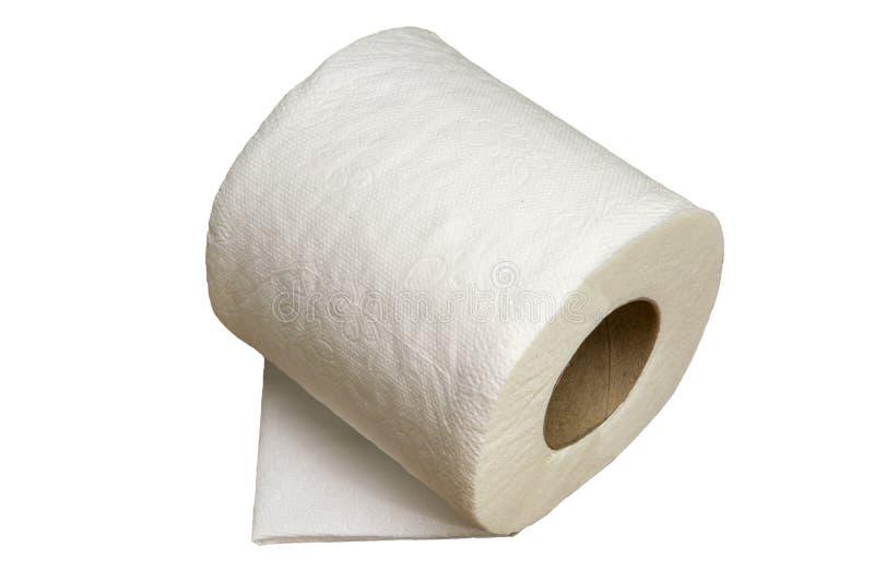 Zacht Geïsoleerd Toiletpapier royalty-vrije stock afbeelding