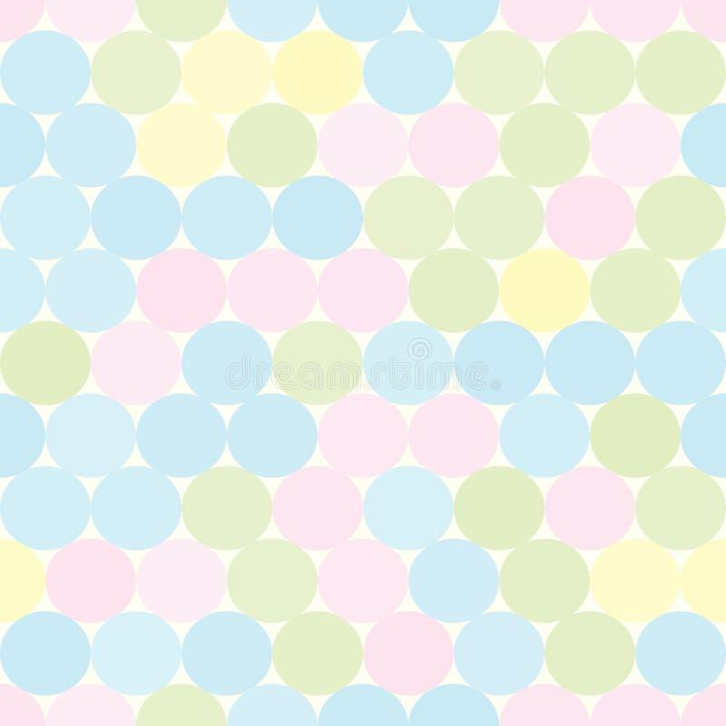 Zacht gekleurd naadloos patroon met cirkels Abstracte geometrische achtergrond stock illustratie