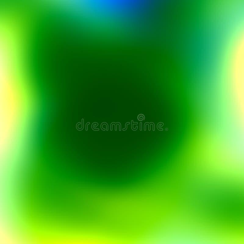 Zacht Groenachtig blauw Wit Onduidelijk beeld Vers Schoon Effect Abstracte de lenteachtergrond Eenvoudige Vlotte Moderne Illustra royalty-vrije illustratie