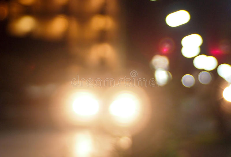 Zacht licht op straat royalty-vrije stock foto