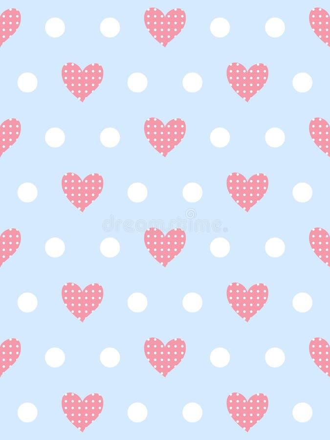 Zacht romantisch patroon royalty-vrije illustratie