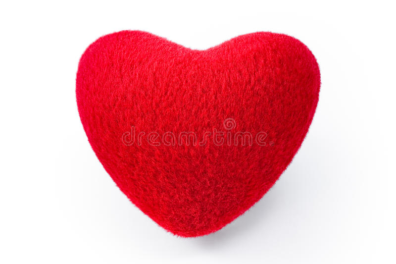 Zacht rood hart royalty-vrije stock foto's