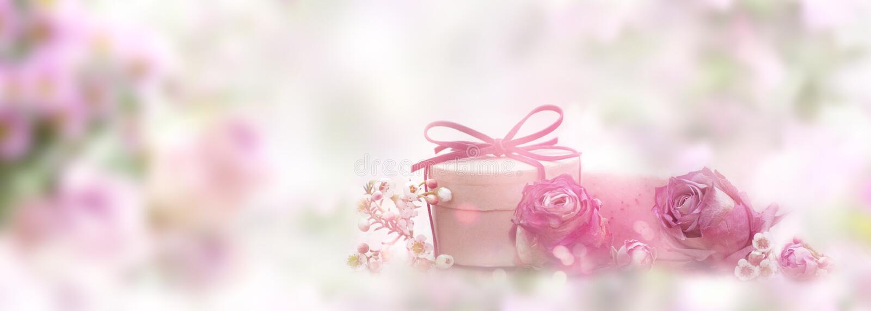 Zacht roze stilleven voor moedersdag royalty-vrije stock fotografie