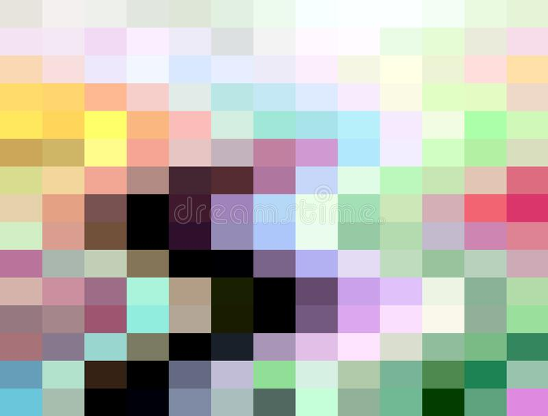 Zachte blauwe oranjegele groene vierkante meetkunde, abstracte achtergrond, grafiek, abstracte achtergrond en textuur vector illustratie
