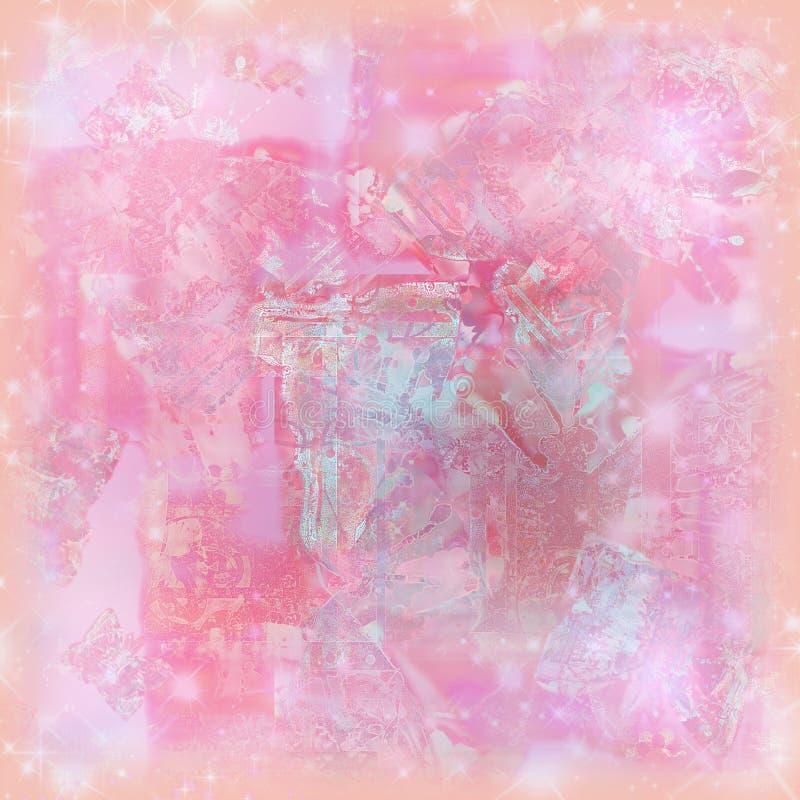 Zachte de waterverfachtergrond van de pastelkleurfonkeling voor kunst en het scrapbooking royalty-vrije illustratie